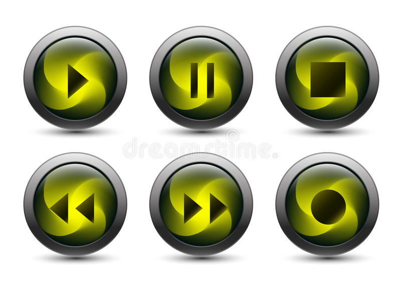 Download Vector Audio Buttons With Gray Frame Stock Illustration - Image: 25289062