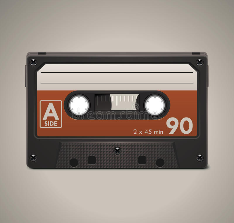 Vector audio cassette tape XXL icon royalty free illustration