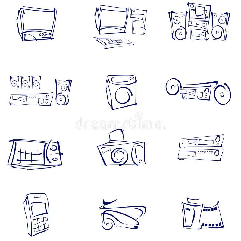 Vector, Audio, Video, Icons Stock Photo