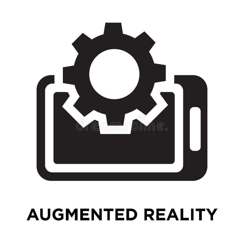 Vector aumentado del icono de la realidad aislado en el fondo blanco, logotipo libre illustration