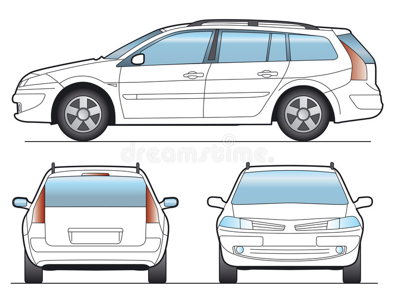 Vector Auto stock illustratie