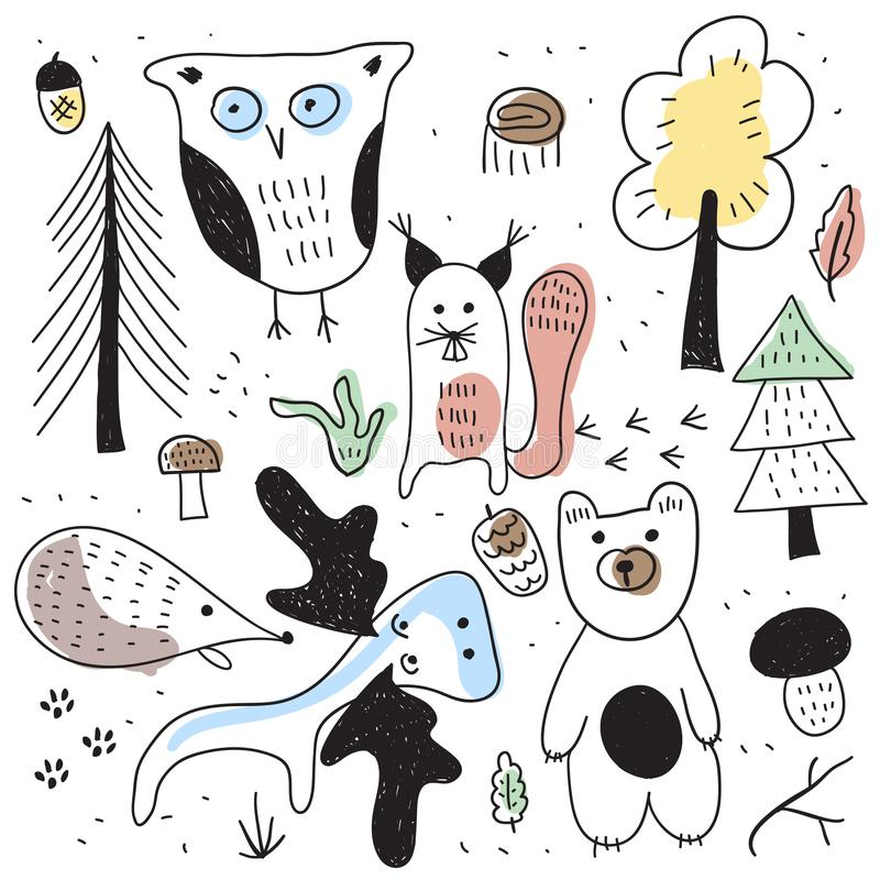 Vector Autumn Forest Illustration libre illustration