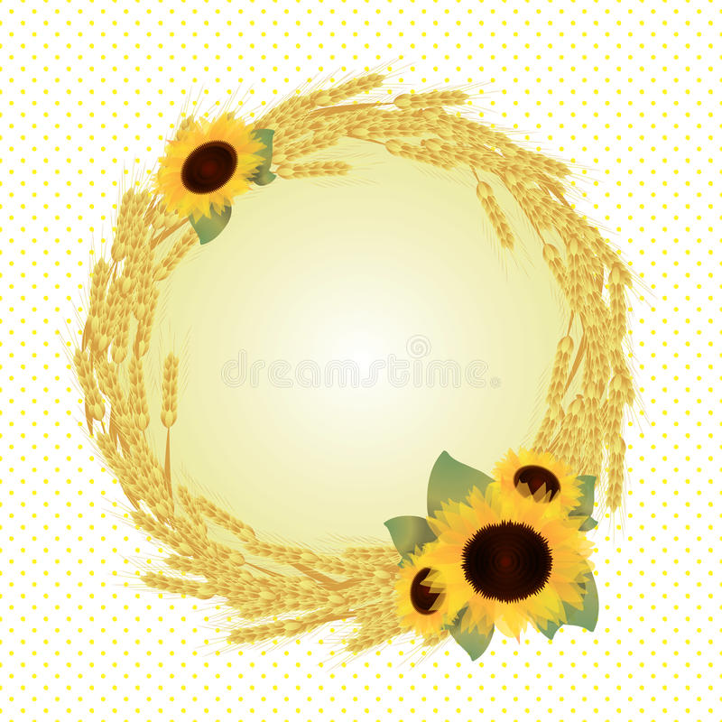 Vector Autumn Frame Stock Images