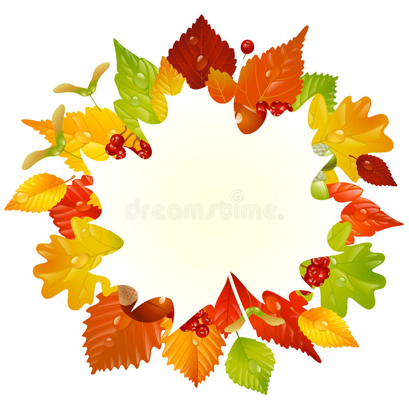 Vector Autumn Frame With Fall Leaf 3 Royalty Free Stock Photos