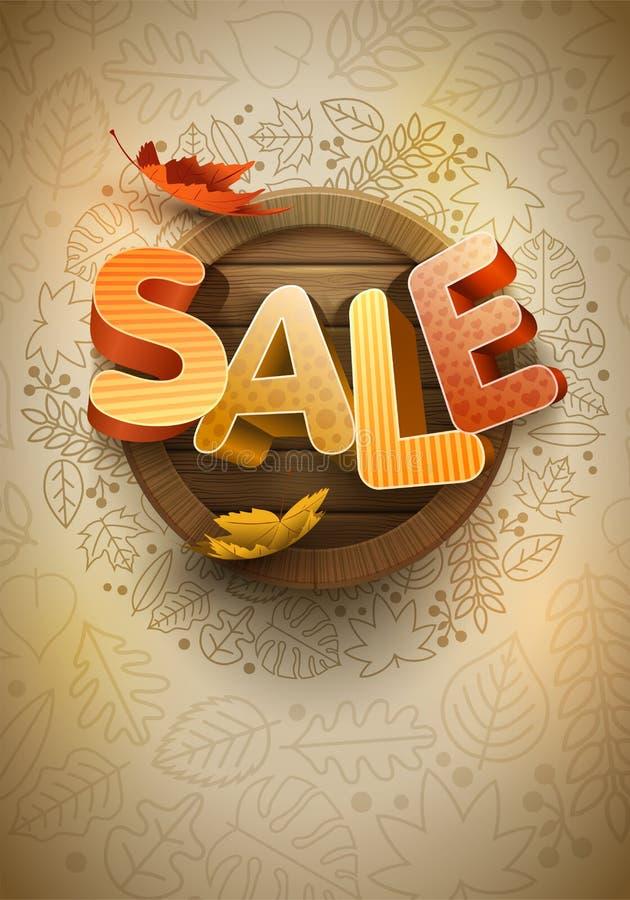 Vector Autumn Sale Poster Design Template ilustración del vector