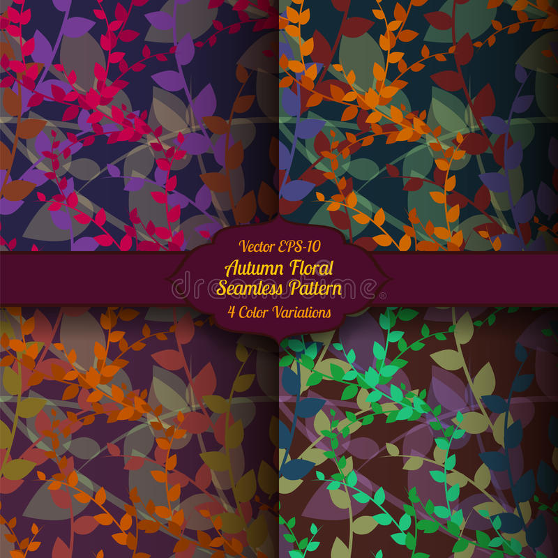Vector autumn seamless floral pattern royalty free stock image