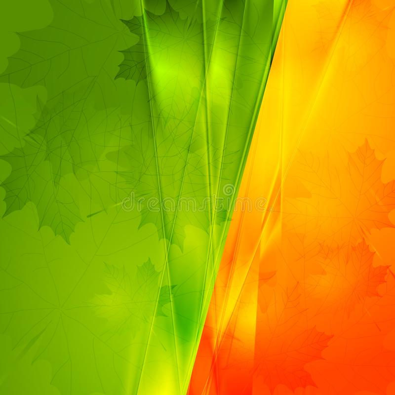 Vector autumn seasonal background royalty free stock image