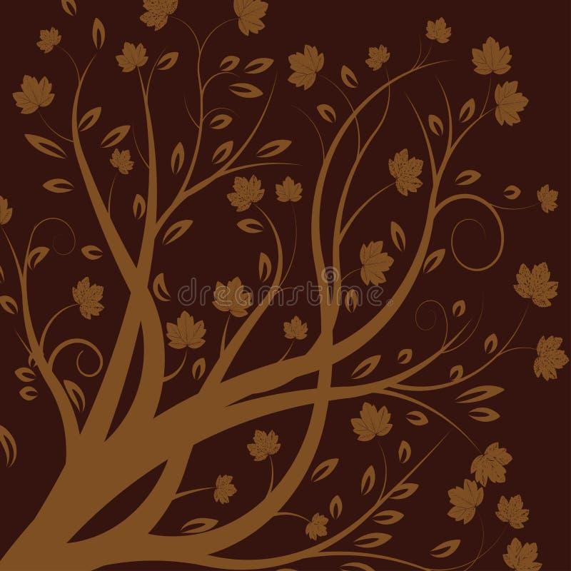 Vector autumn tree royalty free illustration