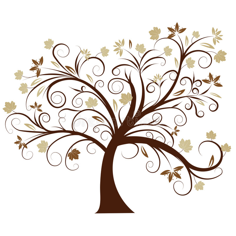 Free Vector Autumn Tree Design Royalty Free Stock Photography - 2871457