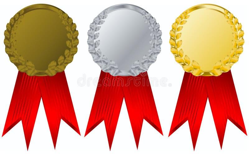Vector award ribbons royalty free illustration