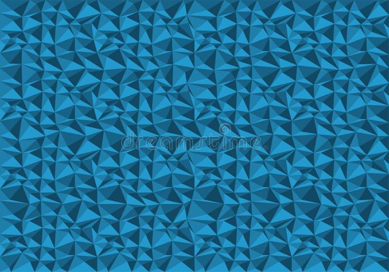 Vector azul abstracto de la textura del fondo del modelo del polígono libre illustration