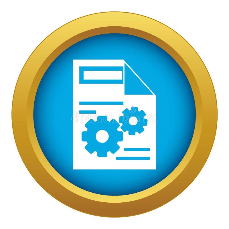 Vector azul del icono del ajuste de la web aislado ilustración del vector