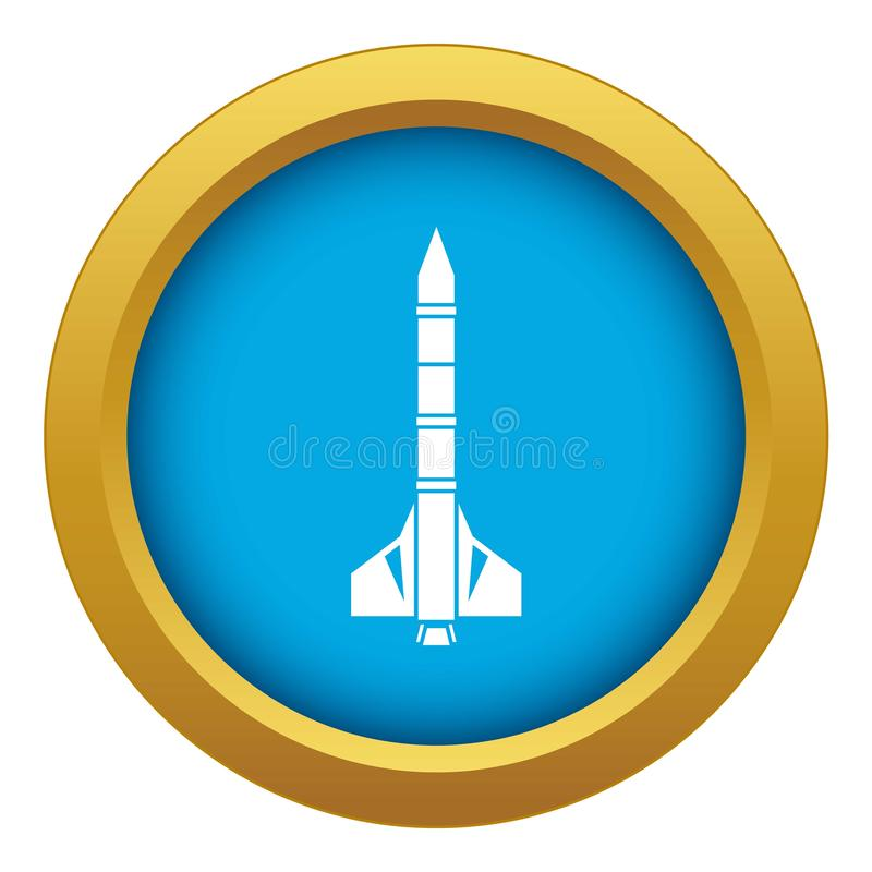 Vector azul del icono atómico del cohete aislado libre illustration