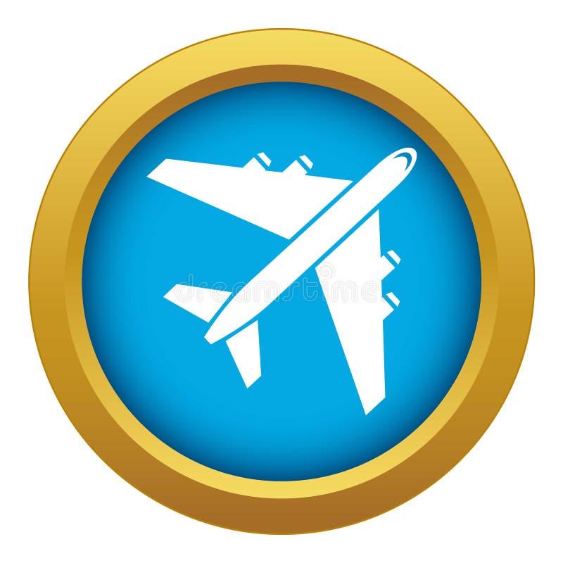 Vector azul del icono del avión de pasajeros del pasajero aislado libre illustration