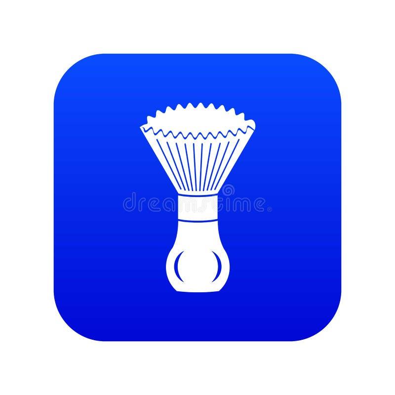 Vector azul del icono del cepillo del afeitado ilustración del vector