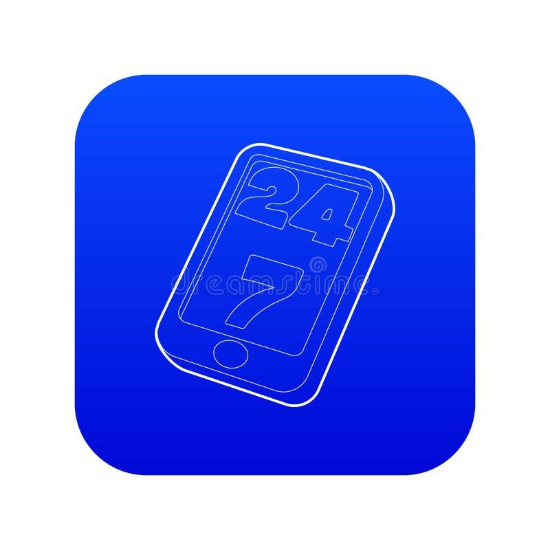 Vector azul del icono de la ayuda libre illustration