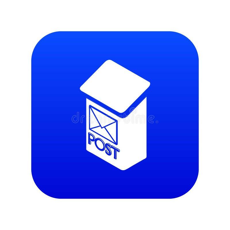 Vector azul del icono de la caja del poste del apartamento ilustración del vector