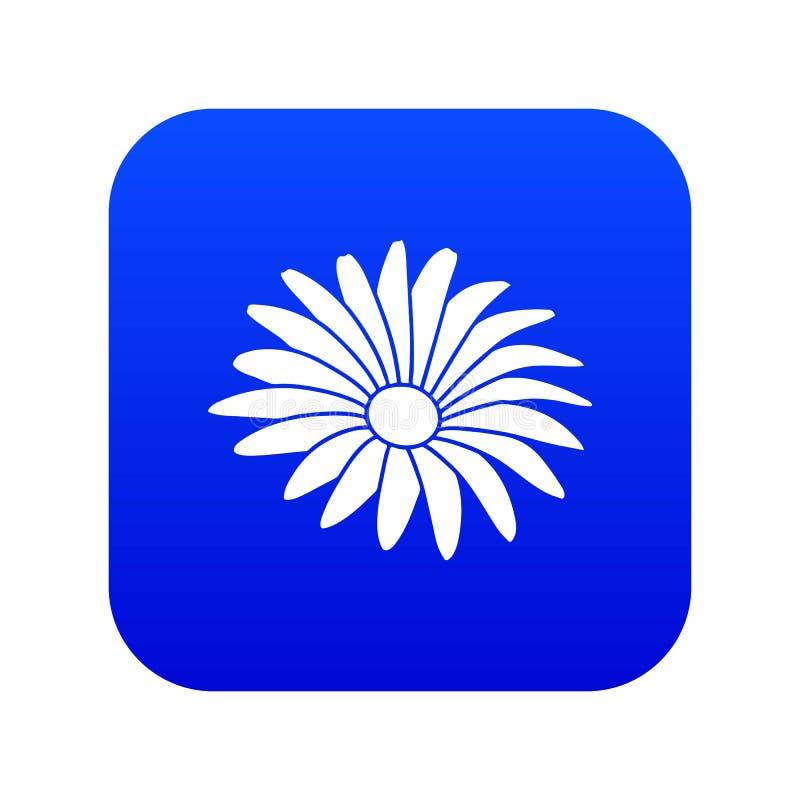 Vector azul del icono de la flor de Gerber stock de ilustración