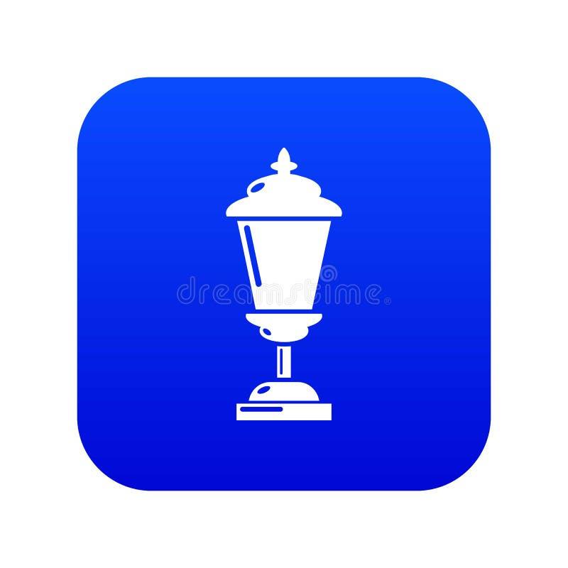 Vector azul del icono de la linterna ilustración del vector