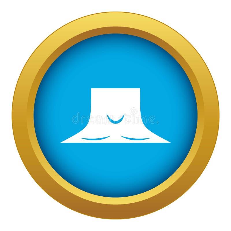 Vector azul del icono humano del cuello aislado stock de ilustración