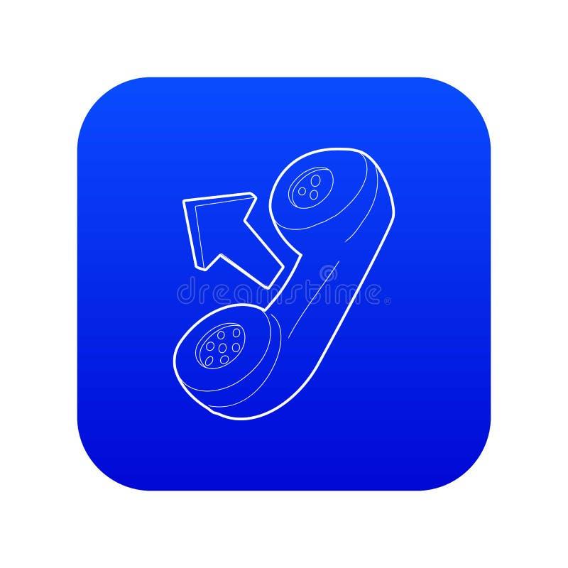 Vector azul del icono del microteléfono ilustración del vector