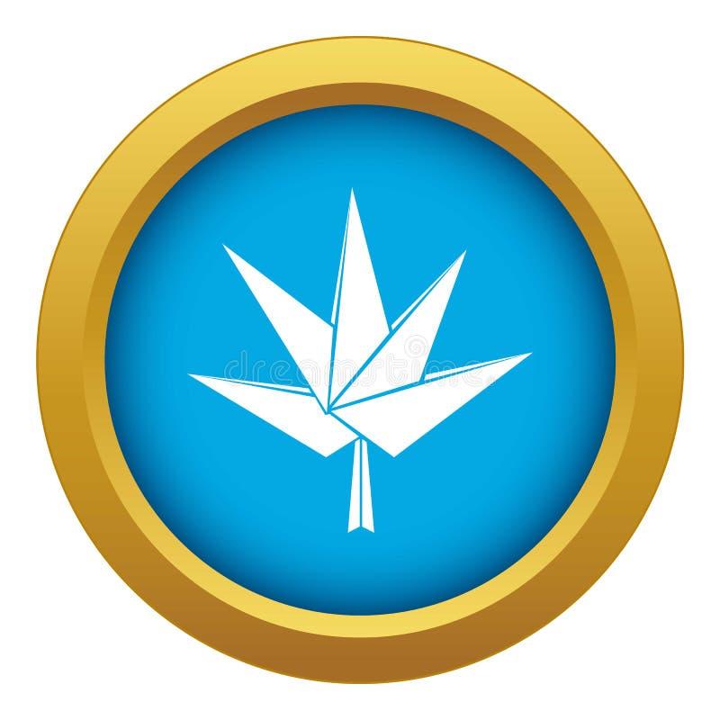 Vector azul del icono mullido del árbol de la papiroflexia aislado stock de ilustración
