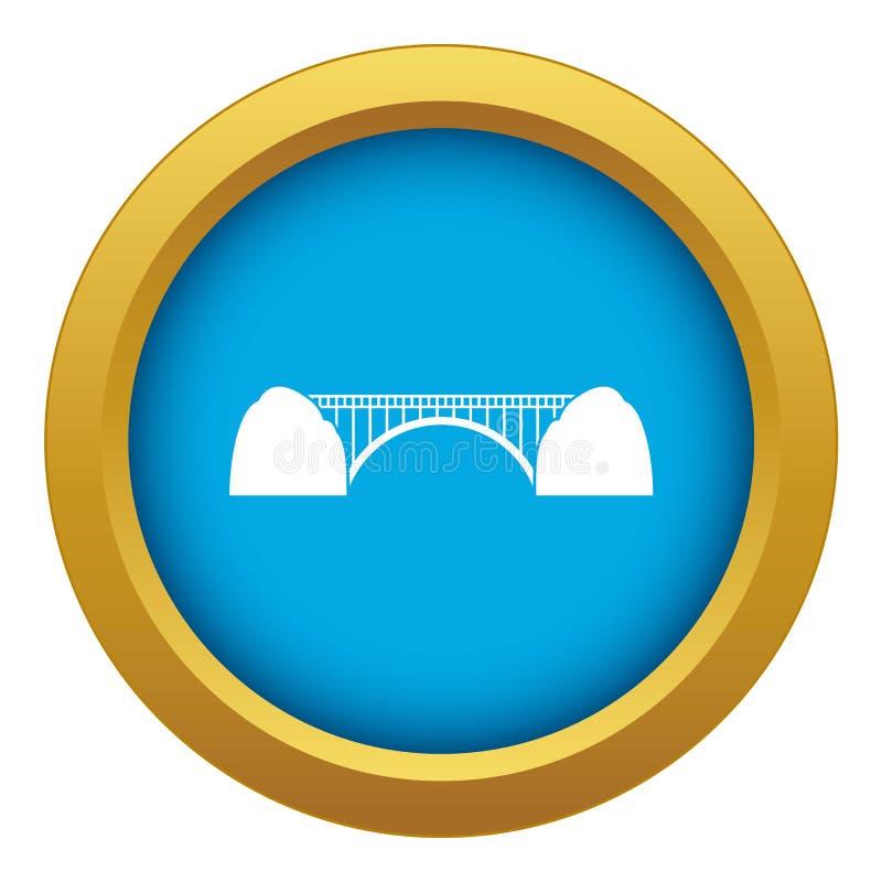 Vector azul del icono del puente aislado libre illustration
