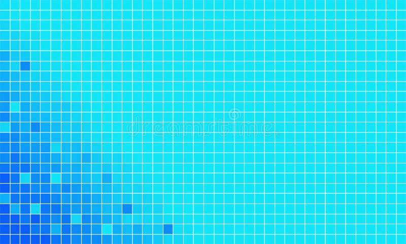Vector azul del mosaico ilustración del vector