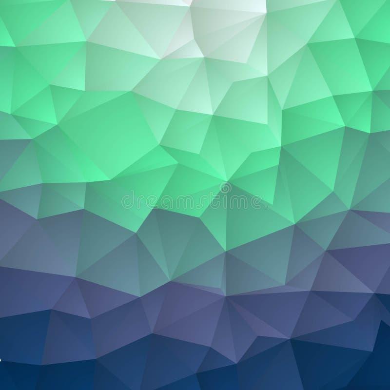 Vector azul marino que brilla el fondo hexagonal Un ejemplo abstracto vago con pendiente Una nueva textura para su dise?o EPS 10 stock de ilustración