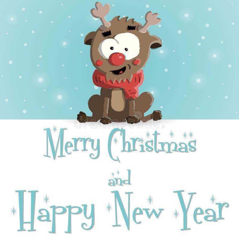 Vector azul rubicundo de la tarjeta de felicitación del Año Nuevo libre illustration