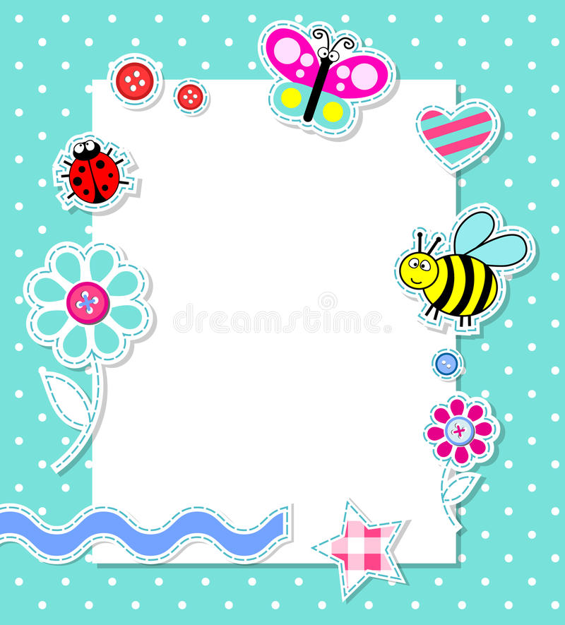 Free Vector Baby Boy Card With Scrapbook Elements Royalty Free Stock Photos - 20815118