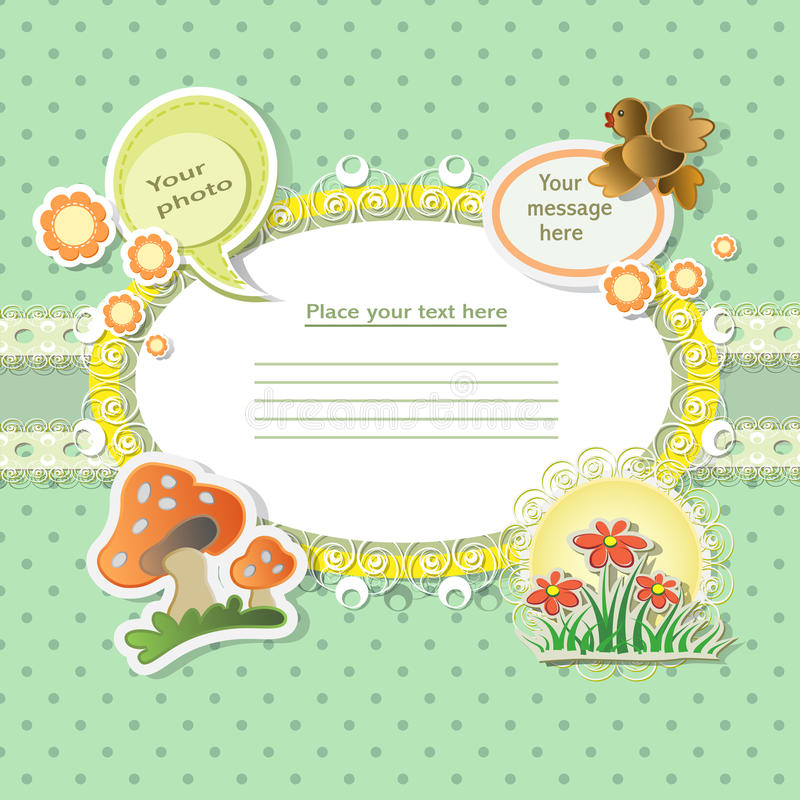 Free Vector Baby Card Royalty Free Stock Photo - 23413345