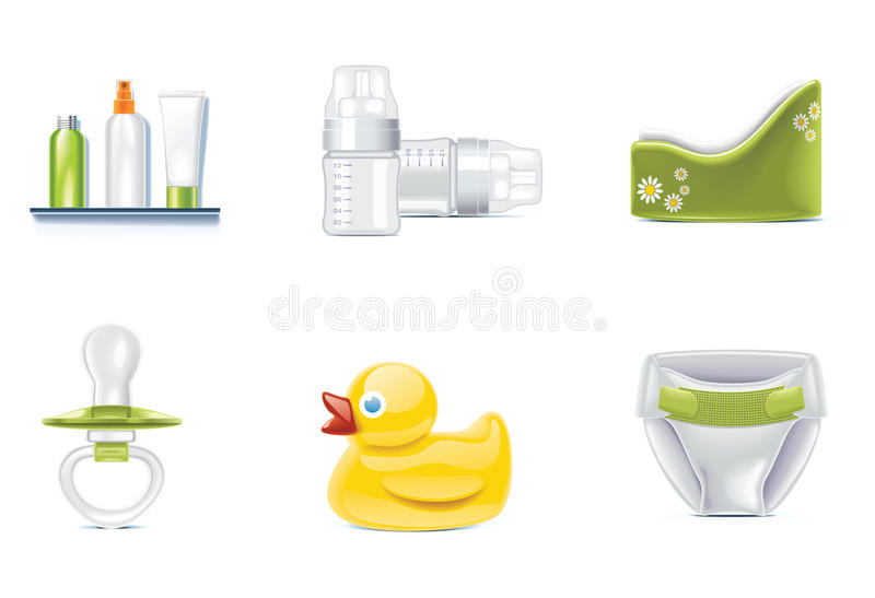 Vector baby icons. Part 3 stock illustration