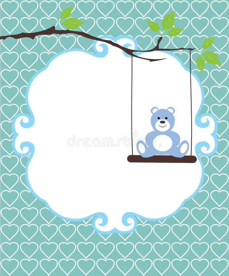 Vector Baby Shower royalty free illustration