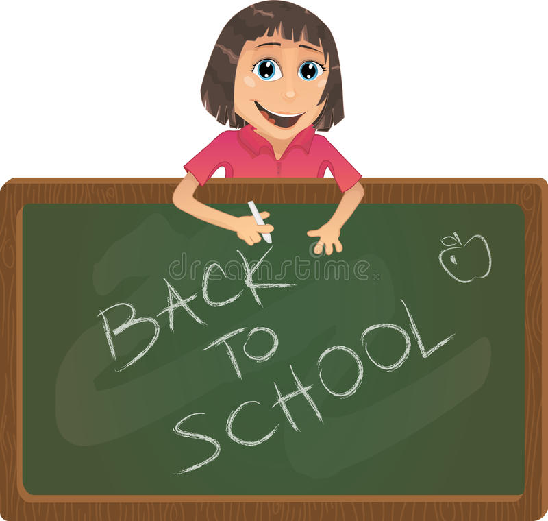 Vector Back To School Illustration Stock Images