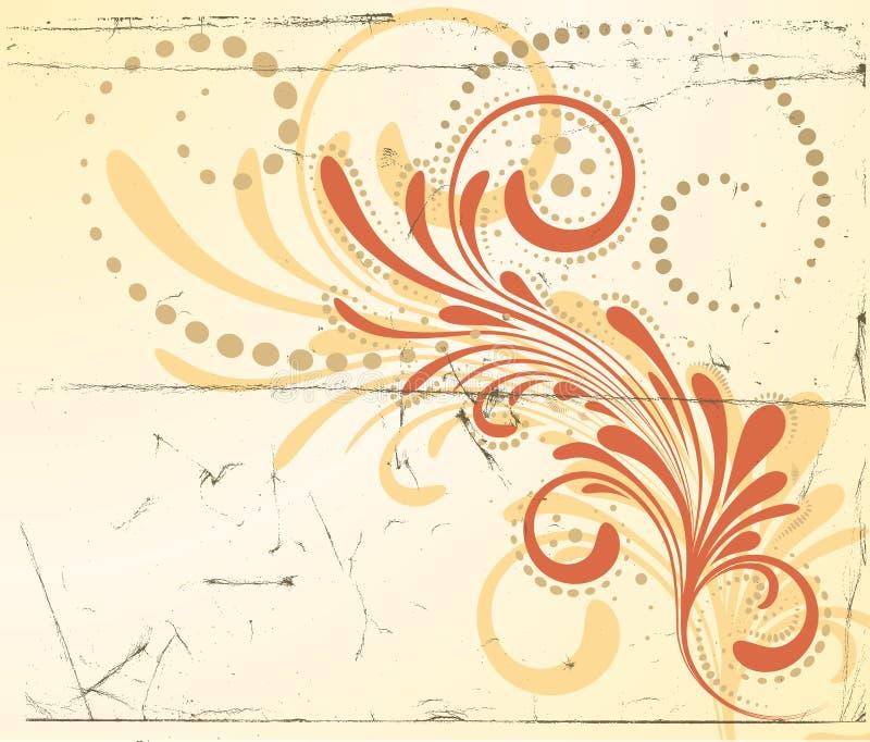 Vector Background. Vector floral background on paper background vector illustration