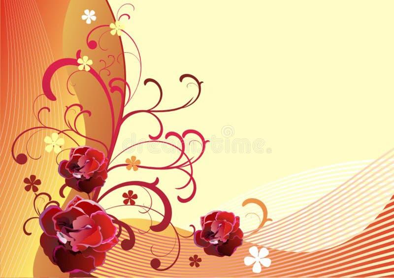 Vector background-9 floral imagem de stock royalty free