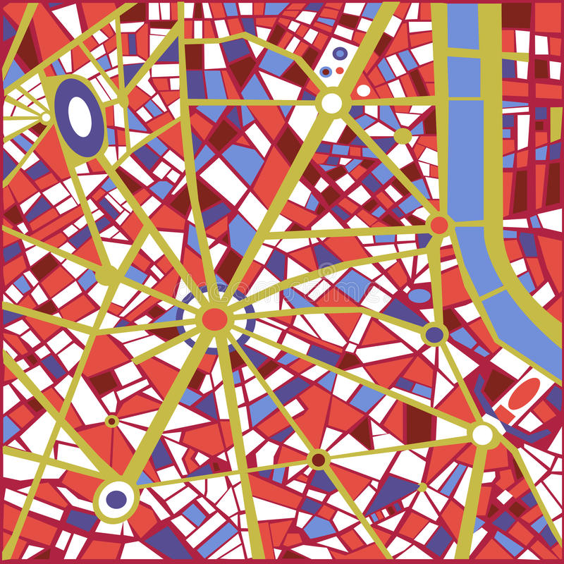 Vector Background Abstract city map