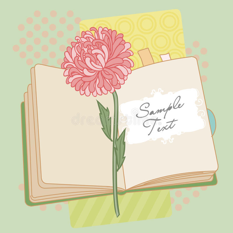 Download Vector Background With Book And Flower Stock Vector - Image: 24573867