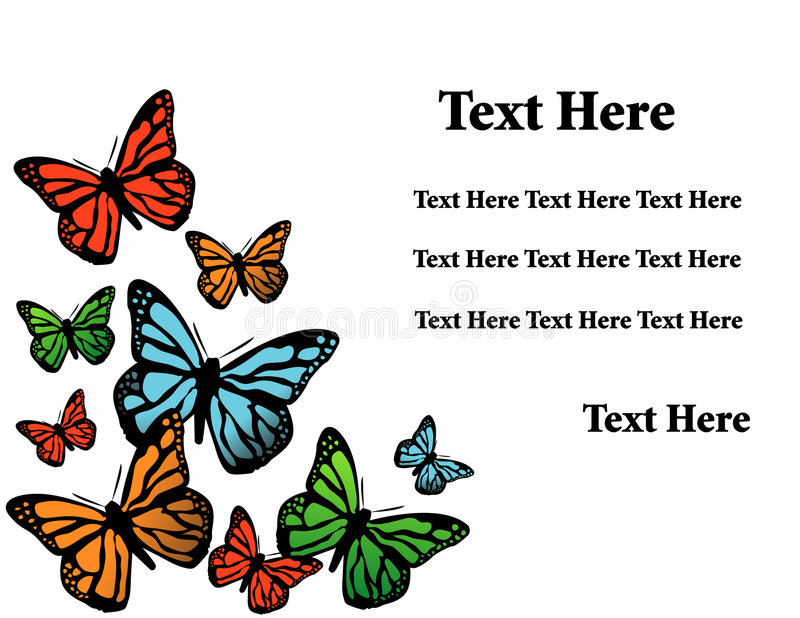 Vector background with butterfly stock illustration