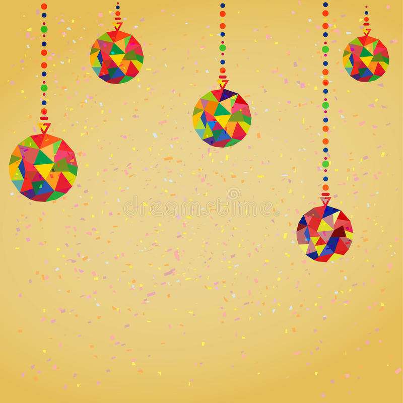 Download Vector Background With Christmas Stock Illustration
