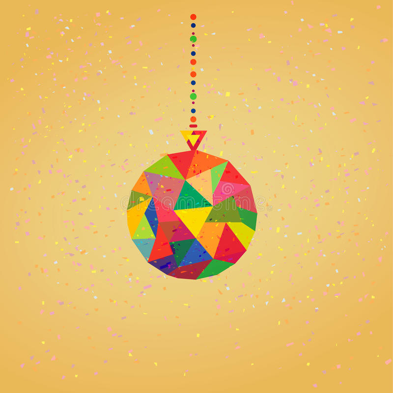 Download Vector Background With Christmas Decoration Balls Stock Illustration