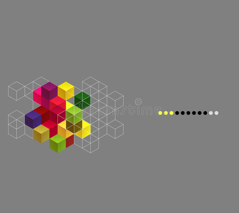 Download Vector Background With Color Cubes Royalty Free Stock Photography - Image: 38078597
