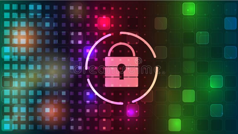 Vector background of computer security and information protection on the Internet. EPS 10. Vector background of computer security and information protection on vector illustration
