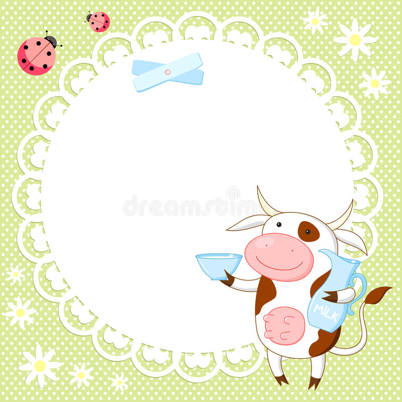 Download Vector Background With Cute Cow Stock Vector - Image: 25008973