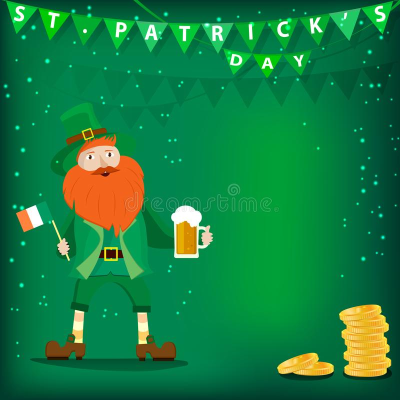 Vector background dedicated to St. Patrick`s day. vector illustration