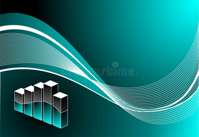 Vector background with diagram. Vector diagram illustration with wave on blue background royalty free illustration