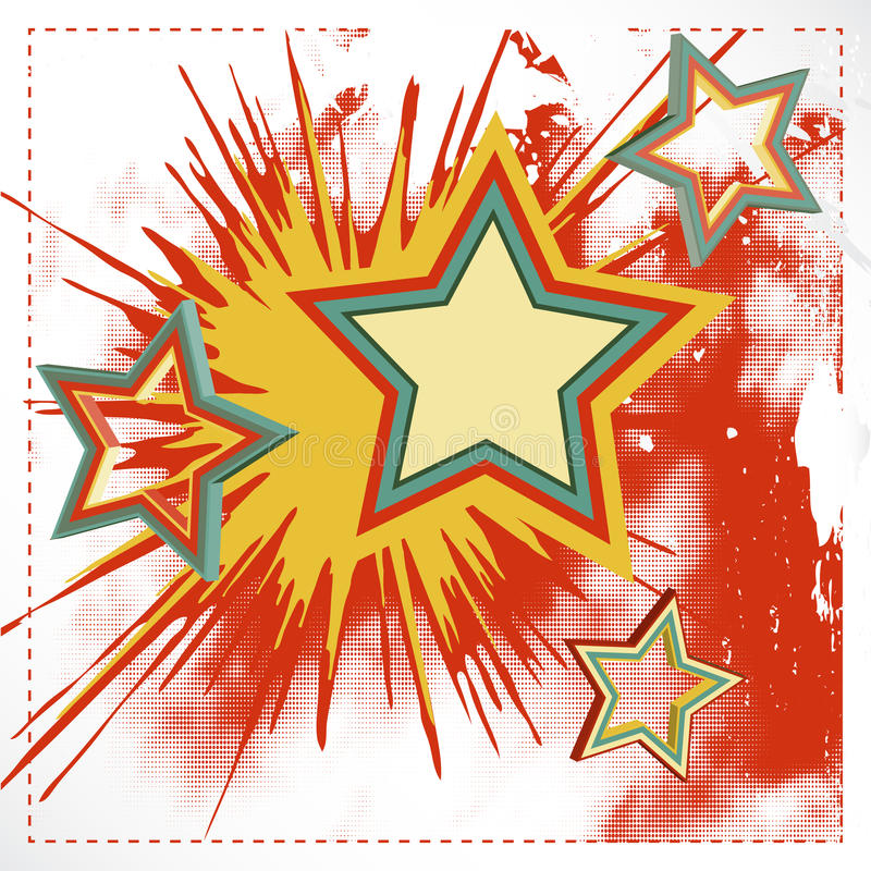 Vector background of explosion star.