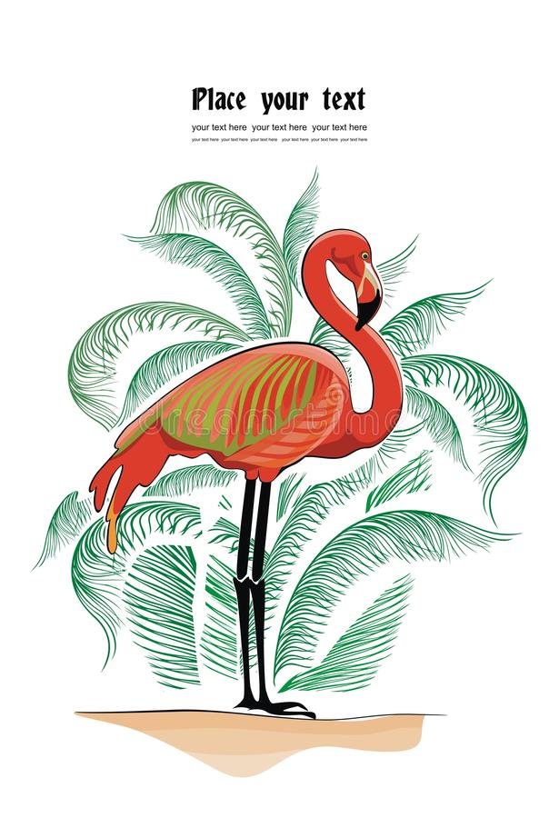 Vector Background With Flamingo Royalty Free Stock Image