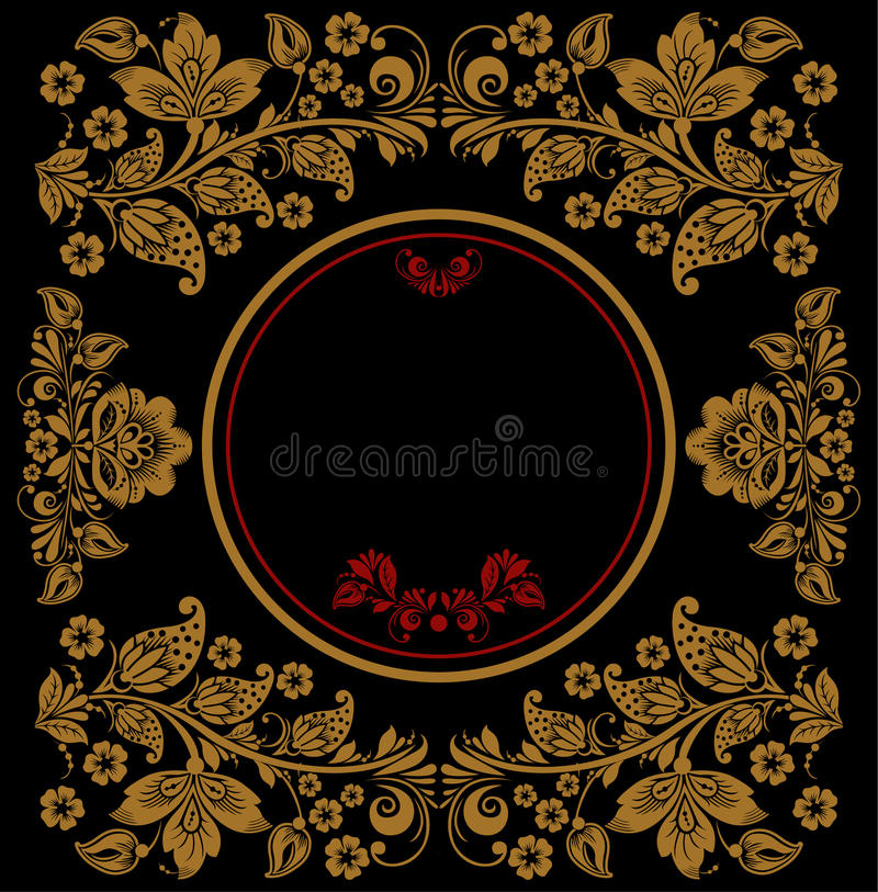 Vector background of floral pattern with vector illustration